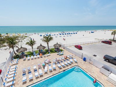 Photo for Luxury Condo - Panoramic Views Of Both John's Pass &  Direct Ocean Front