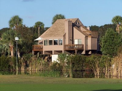 Our villa overlooking the lagoon, and the golf course