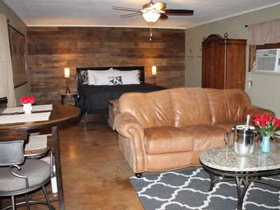 Photo for The Champagne Room. 618 sq. ft. guesthouse w/ hot tub and free bottle of bubbly!