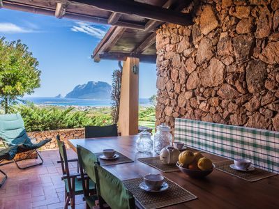 Photo for Villa Adriano: home with garden and stunning seaview on Tavolara Island
