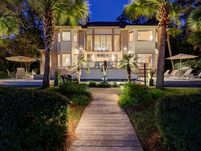 Photo for Oceanfront Six Bedroom Spacious Home w/ Private Pool - Located in Sea Pines!