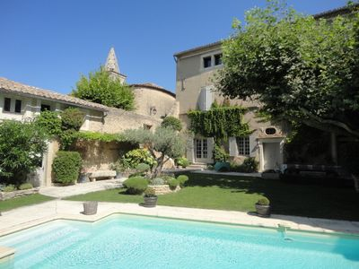 Photo for Grand 18th C. House With Garden And Pool In Village Center