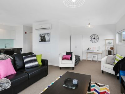 Photo for APOLLO 13 PENTHOUSE - opposite the beach, free wifi, huge private balcony!
