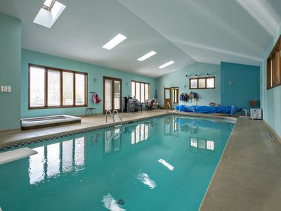 Photo for Indoor Heated Pool, Private Small Lake, Outdoor Hot Tub ~ Weekday Specials Now!