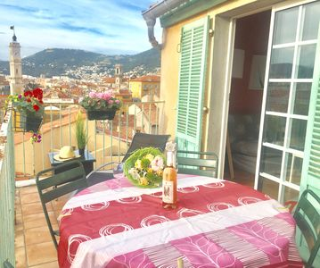 Photo for APARTMENT WITH TERRACE PANORAMIC VIEW IN THE HEART OF OLD NICE, WIFI