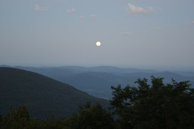 Moon rise as seen from the deck of 1925 High Ridge Place