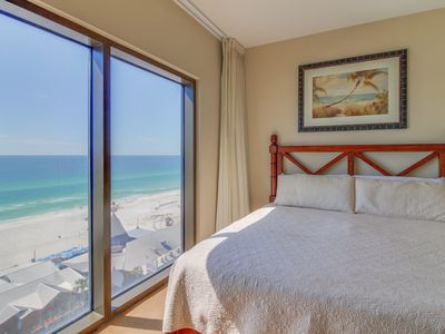 Photo for Sunny condo w/ views of the Gulf plus a shared pool, hot tub, gym, & game room