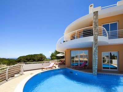 Photo for Luxury 4 Bed Villa, Sea Views, Heated Pool, Pool Table, Wi Fi