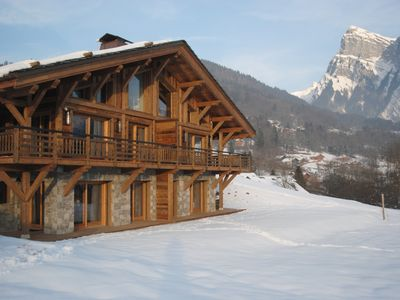 Photo for Luxury apartments, 5 * with sauna in new chalet - 4 people