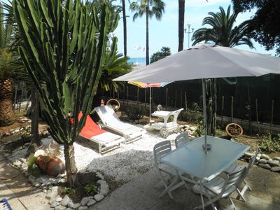 Photo for NICE-  PROMENADE CENTER- BEACH FRONT- PRIVATE GARDEN and PARKING