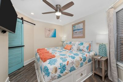 Newly remodeled. Master bedroom with king bed and flat panel TV!