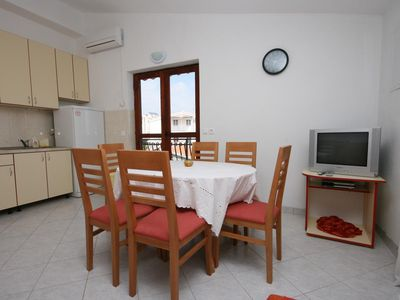 Photo for One bedroom apartment with balcony and sea view Rastići, Čiovo (A-2794-c)