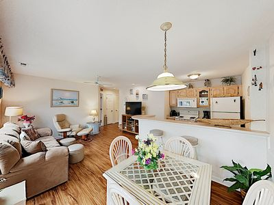 Photo for Beach Bliss: Private Balcony, Walk to Shops & Dining, 200 Yards to Shore!