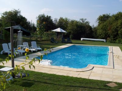 View of pool from lower garden