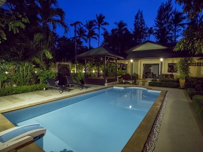 Photo for Wonderful Family Garden Villa, very close to the beach, private and spacious.