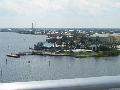 Photo for Beautiful waterfront apartment overlooking docks on Vero Isles canal - Suite One