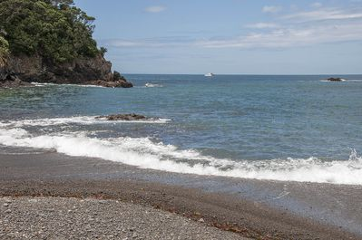 7 minutes walk to secluded private access beach