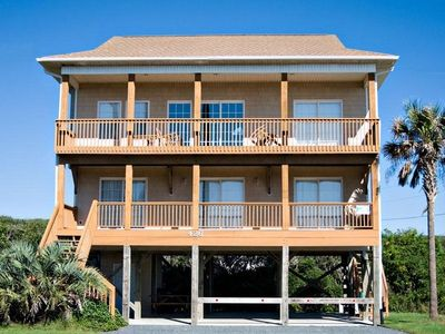 Photo for CALLALILY: 4 BR / 3 BA ocean view, private beach access, Topsail Beach, Sleeps