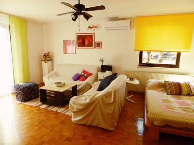 Photo for Spacious 2+1 APARTMENT with BIG terrace FEW STEPS from SAND BEACH