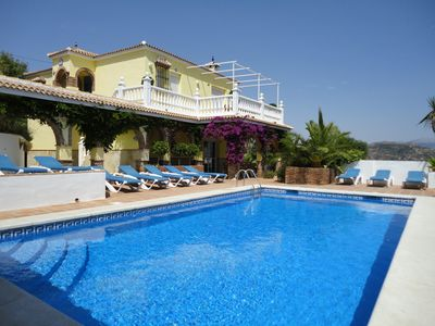 Photo for Luxury Modern family-friendly villa/Large private pool/Themed bar/Stunning views