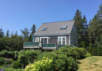 Front of Carriage House with deck facing ocean
