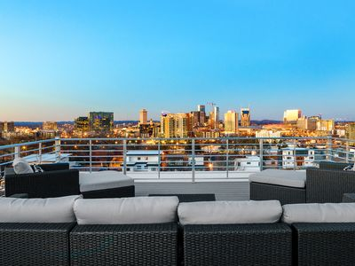 Photo for Hip 3BR/3.5BA Between 12S & The Gulch w/ Rooftop Patio - 1 Mile to Downtown