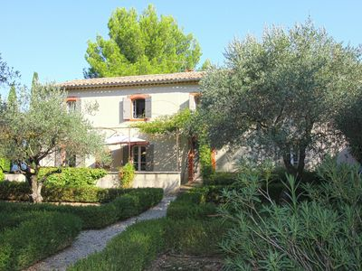 Photo for Farm at 11 km from Vaison-la-Romaine with private pool and pool house