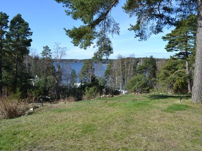 Photo for Holiday house with lake view, central location Värmdö. Rowing boat