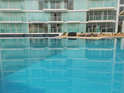Photo for Beachfront, Pool Front, Studio Apartment with Beach Views