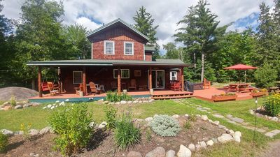 Photo for Secluded Lodge near Whiteface Mountain & Adirondack Wildlife Refuge with Hot Tub