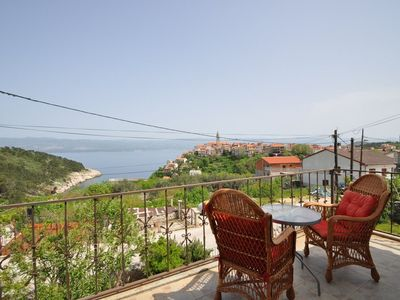 Photo for Holiday apartment overlooking the sea and the old town