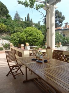 Photo for Charming villa, yet affordable, in Villefranche-sur-mer, the real Cote d'Azur.