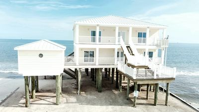 Photo for Beautiful Gulf-front 4 bedroom 2.5 bath home on the far west end of Dauphin Island