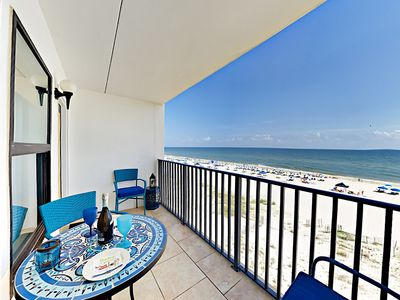 Photo for Epic Gulf Views from Island Sunrise 2BR – Absolute Beachfront w/ Large Pool