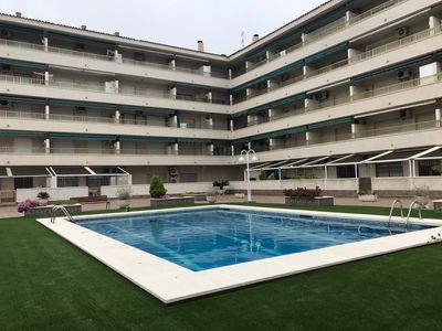 Photo for 129B - Apartment Edif. Espigons, 2nd line of the beach, swimming pool