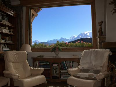 Photo for Chalet in Demi Quartier with view Mont-Blanc - Chalet 4 Rooms 6 people