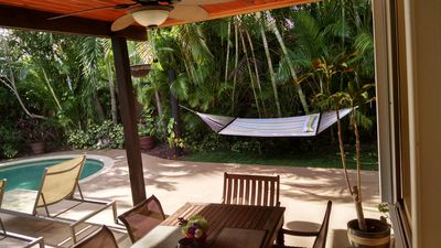 Photo for Tropical Turtle Retreat Home and Oasis, 1 mile to the beach -- 3 Bedroom, 2bath