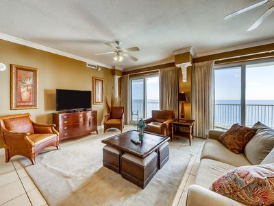 Photo for Penthouse condo w/ great views, two pools, & private balcony - near attractions