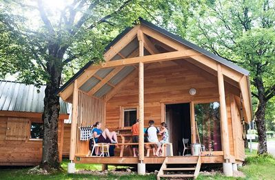 Photo for Camping Huttopia Divonne *** - Chalet Indigo 3 Rooms 6 People