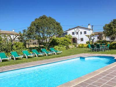 Photo for Majestic Catalan mansion in Riudarenes for 20 guests, 20km to the beach!