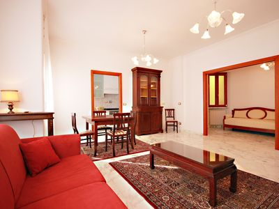 Photo for Vatican area, Finely renovated, Jacuzzi, terrace, A / C, WIFI, 2 bedrooms, living