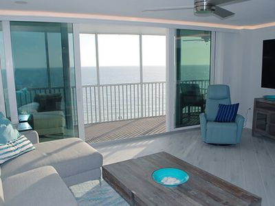 Breathtaking, unobstructed, panoramic views of the Gulf of Mexico on renowned Crescent Beach!