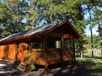 Photo for Romantic Luxury Cabin For 2 located on 3 acres - Private area - Easy Access