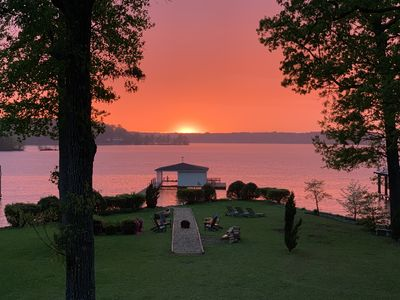 Photo for NEW LISTING! Stunning Home w/ Main Lake Sunsets - 4 BR,  3800 sq ft, 1-acre lot