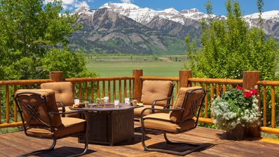 Photo for Western charm, sweeping Teton views, 20 acres to explore