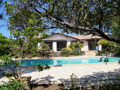 "Photo for Villa ""Thalilow"", 18 pers 600 meters from the beach, heated pool"