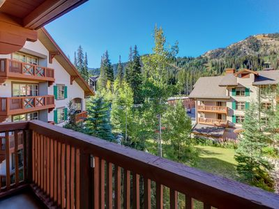 Photo for Sleek ski-in/out condo w/ Club Solitude access & shared hot tub, pool & more!