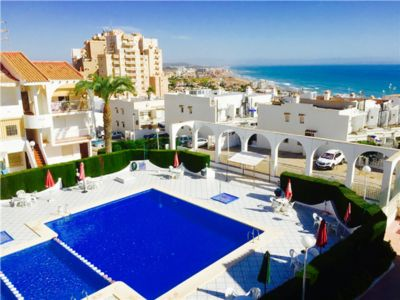 Photo for Apartment with pool, balcony and sea views - only 400m walk from La Mata beach!