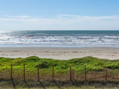 Beachfront - Our breezy, beachfront home is just seconds from the shore.