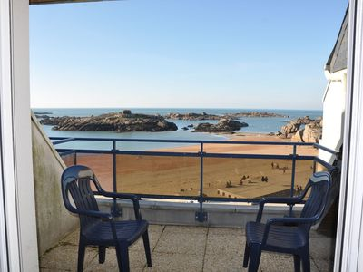 Photo for Beautiful 3 * apartment with exceptional view on sea TREGASTEL